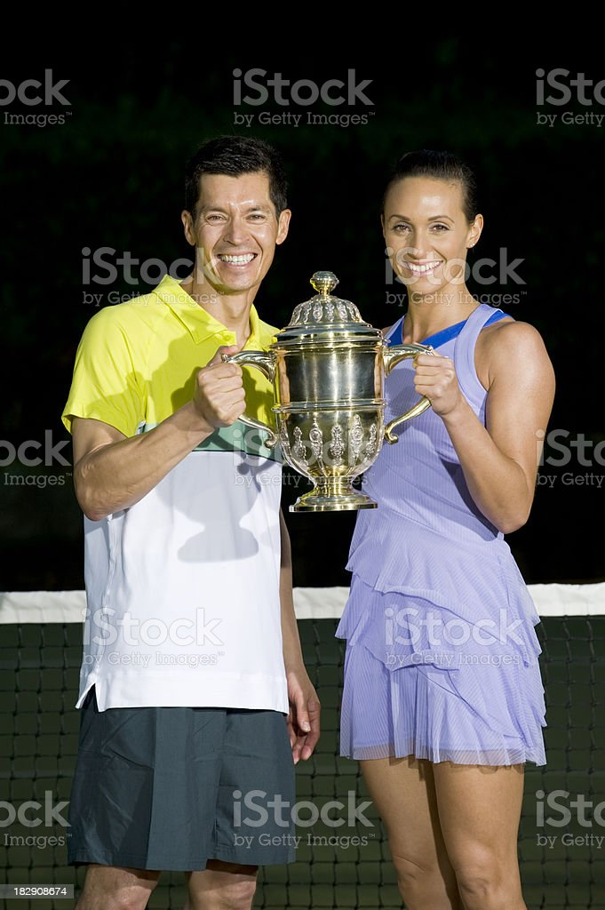 Tennis Players royalty-free stock photo