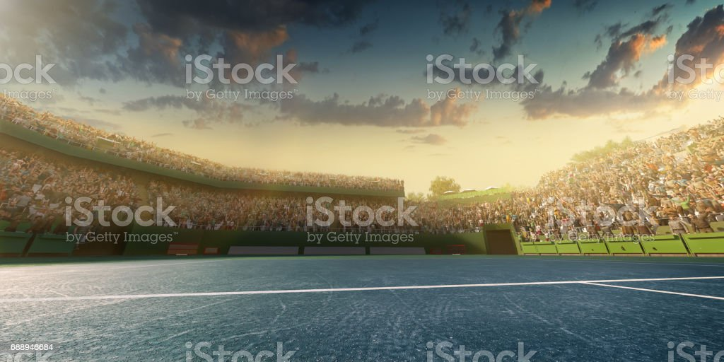 Tennis: Playing court stock photo