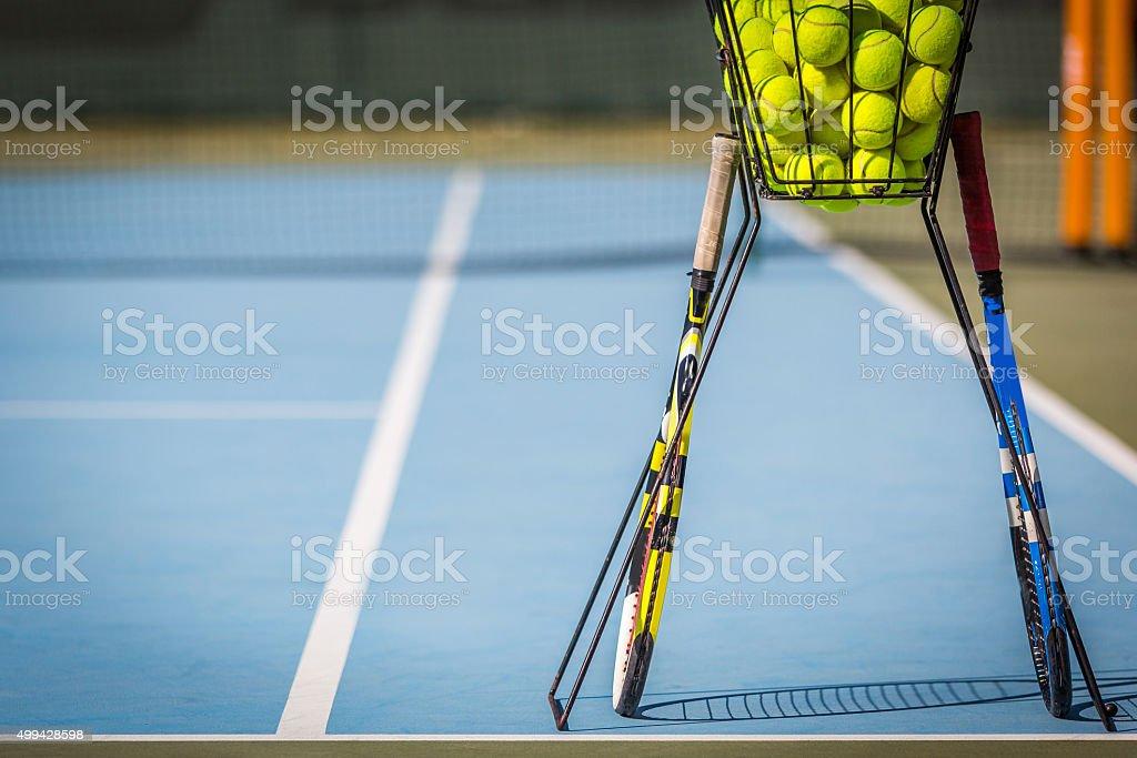 Tennis Practice stock photo