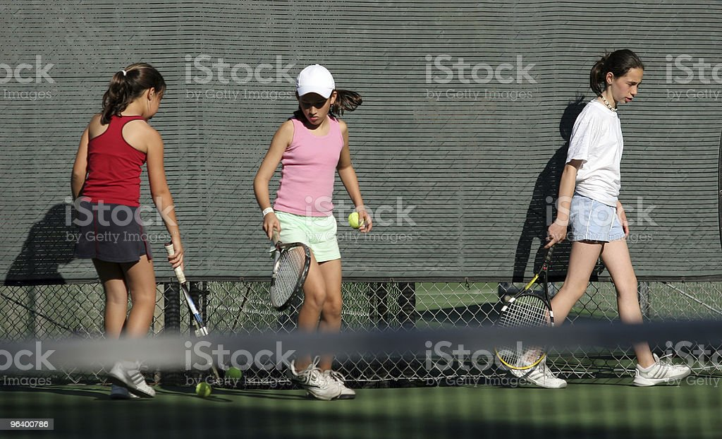Tennis practice royalty-free stock photo