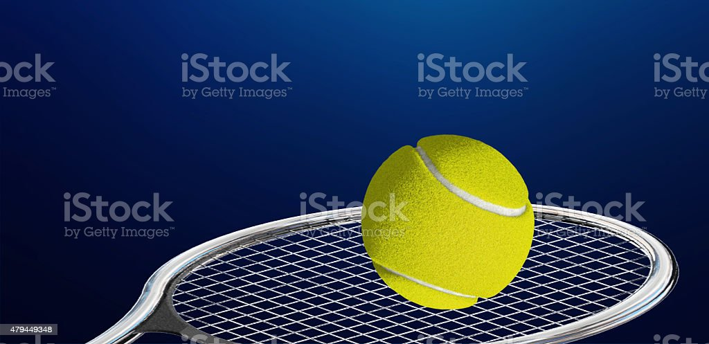 Tennis Racket and Ball stock photo