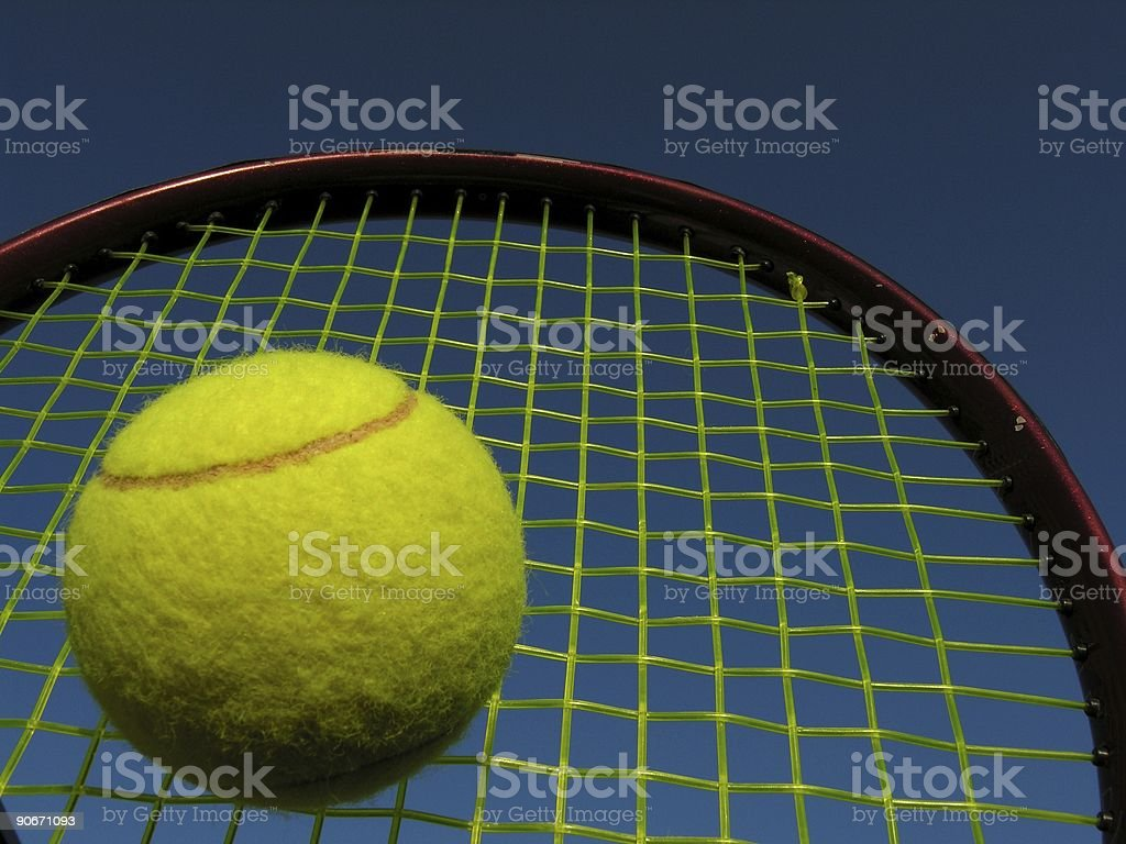 Tennis racket and Ball royalty-free stock photo