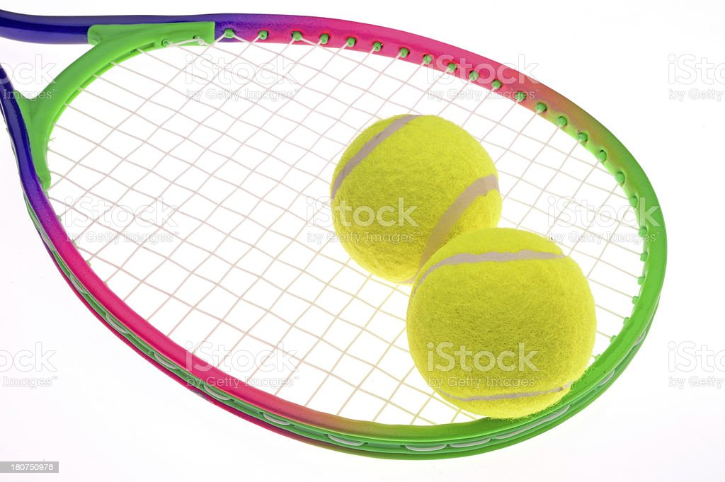 tennis racket and balls royalty-free stock photo