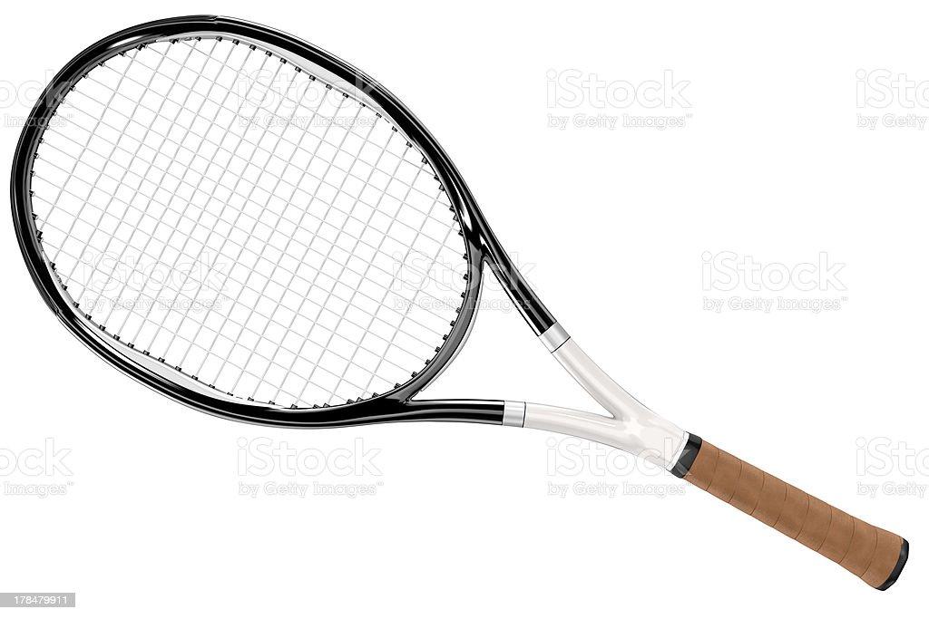 Tennis Racket Black and White Style stock photo
