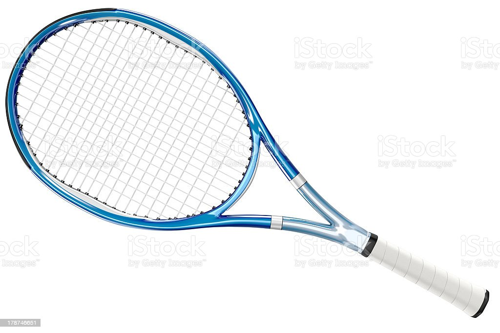 Tennis Racket Blue Style stock photo