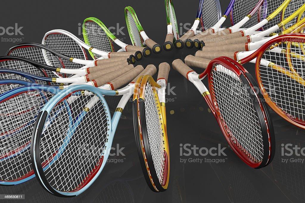 Tennis Racket Color Circle royalty-free stock photo