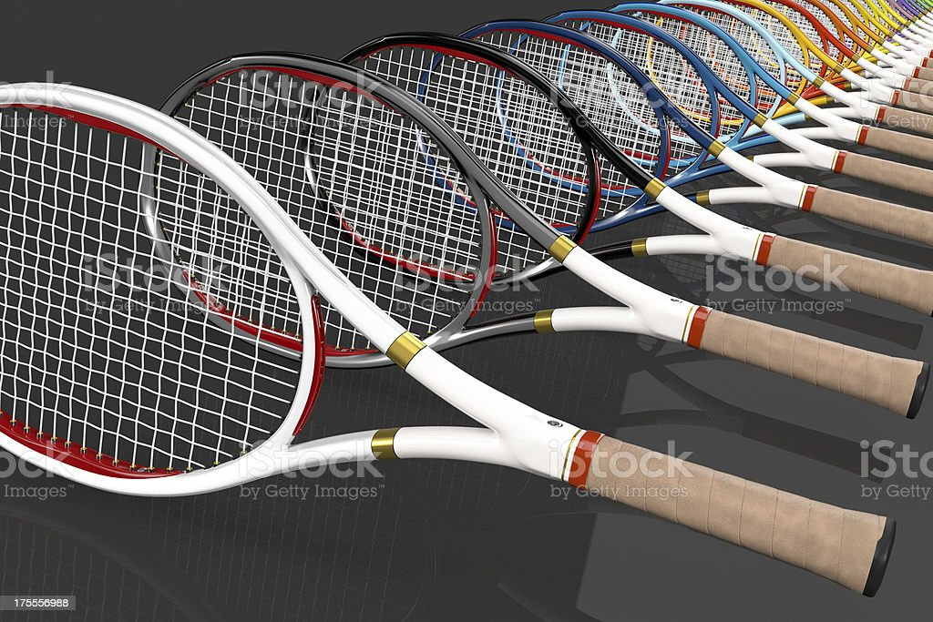 Tennis Racket Color Line royalty-free stock photo
