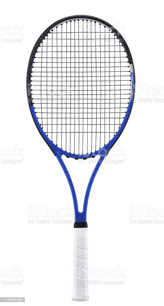 Tennis racket, isolated on white stock photo