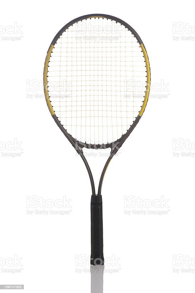 Tennis racket isolated stock photo