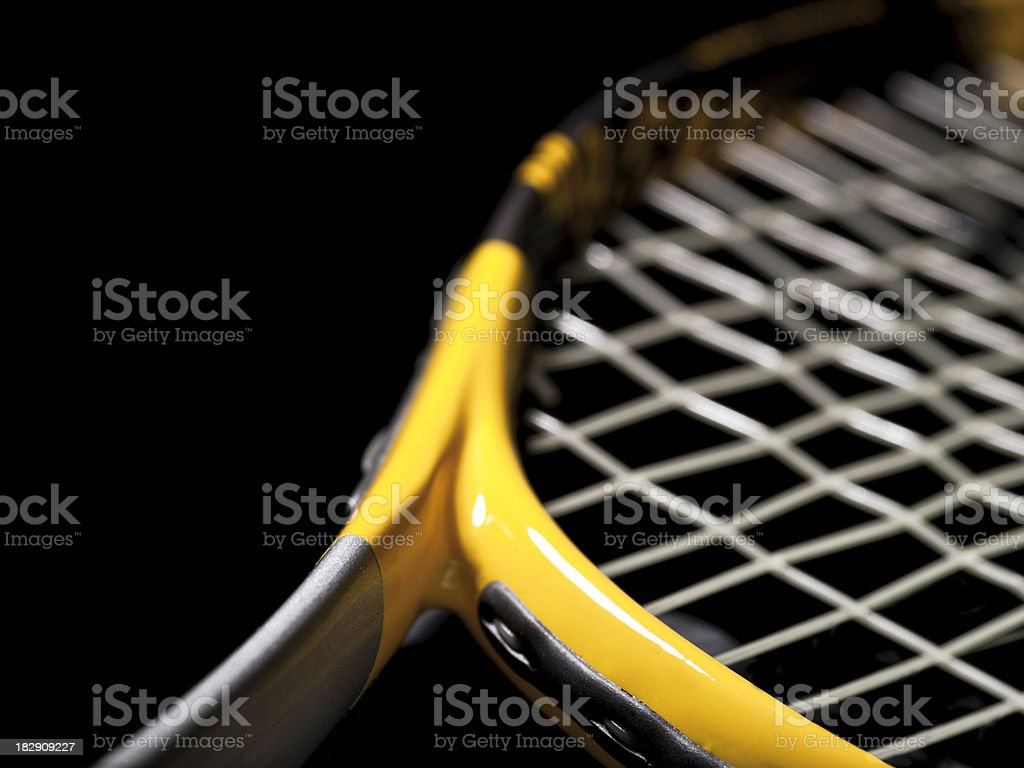Tennis racket off the court royalty-free stock photo