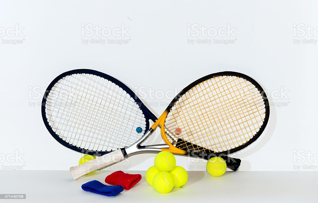 Tennis racket. stock photo