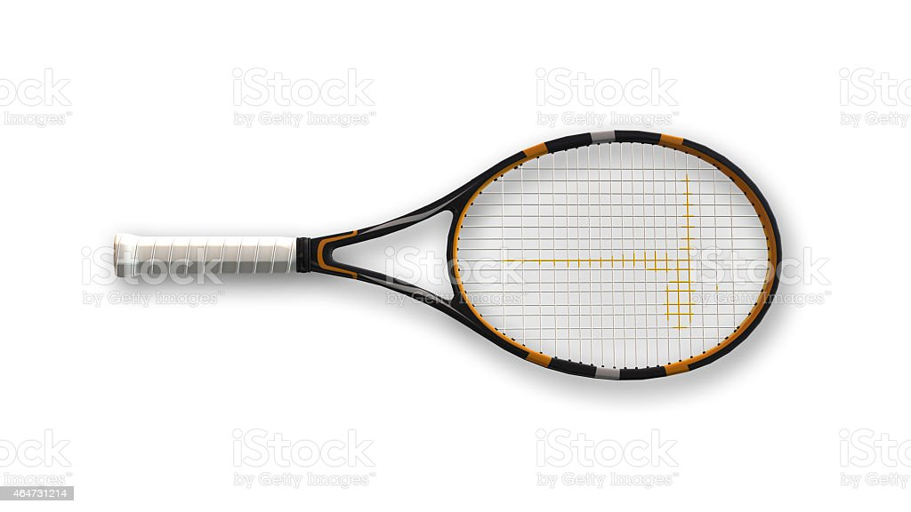 Tennis racket, top view stock photo