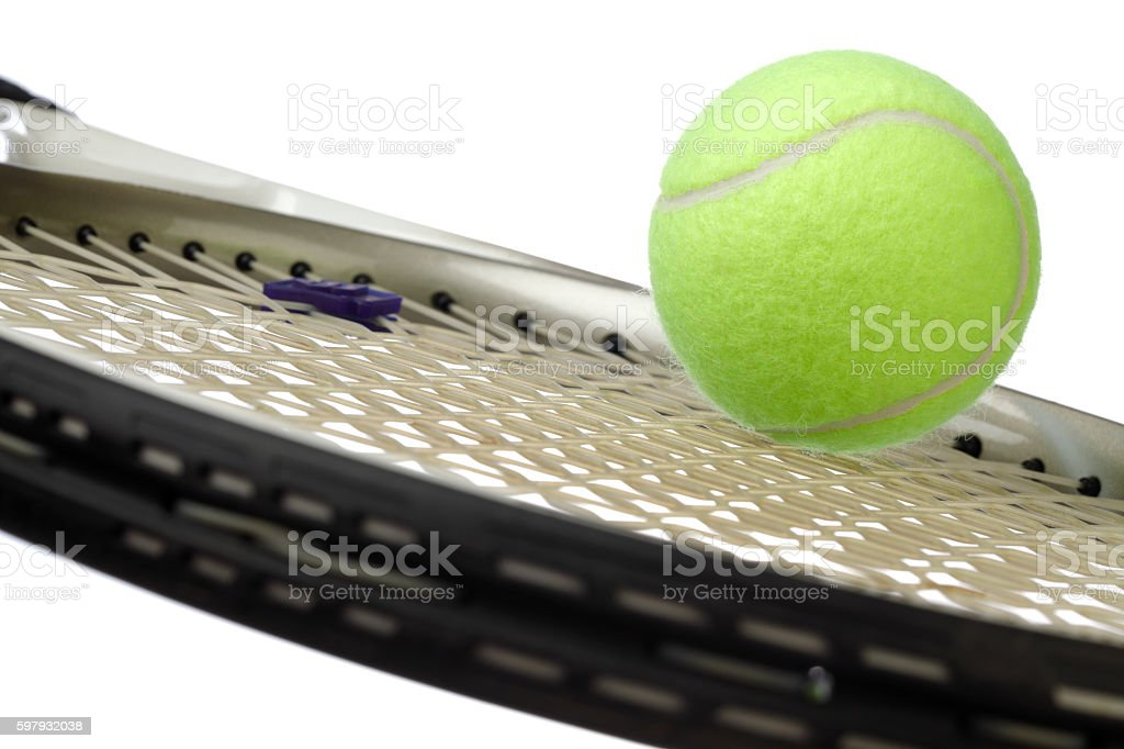 Tennis Racket withTennis Ball stock photo