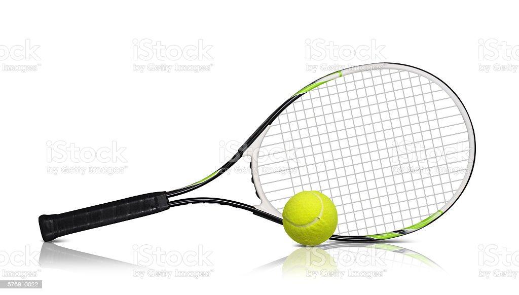 Tennis rackets stock photo