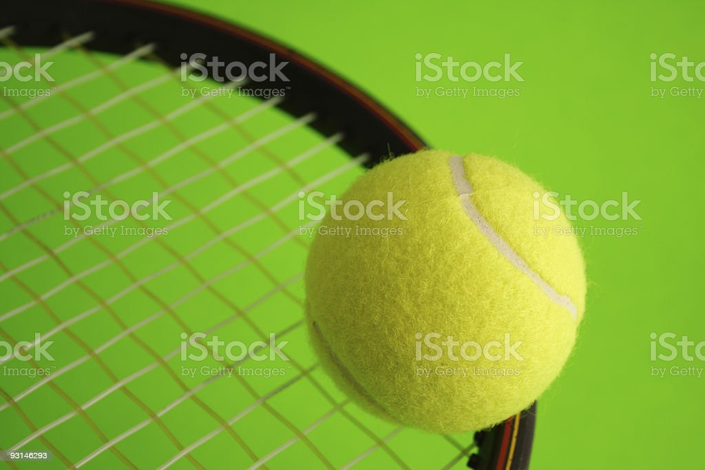 Tennis Racquet and ball royalty-free stock photo