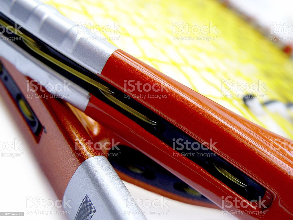 tennis racquets royalty-free stock photo