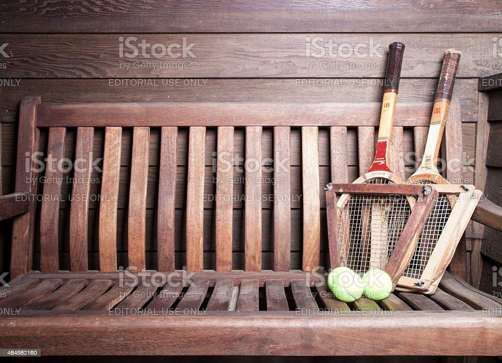 Tennis Racquets stock photo
