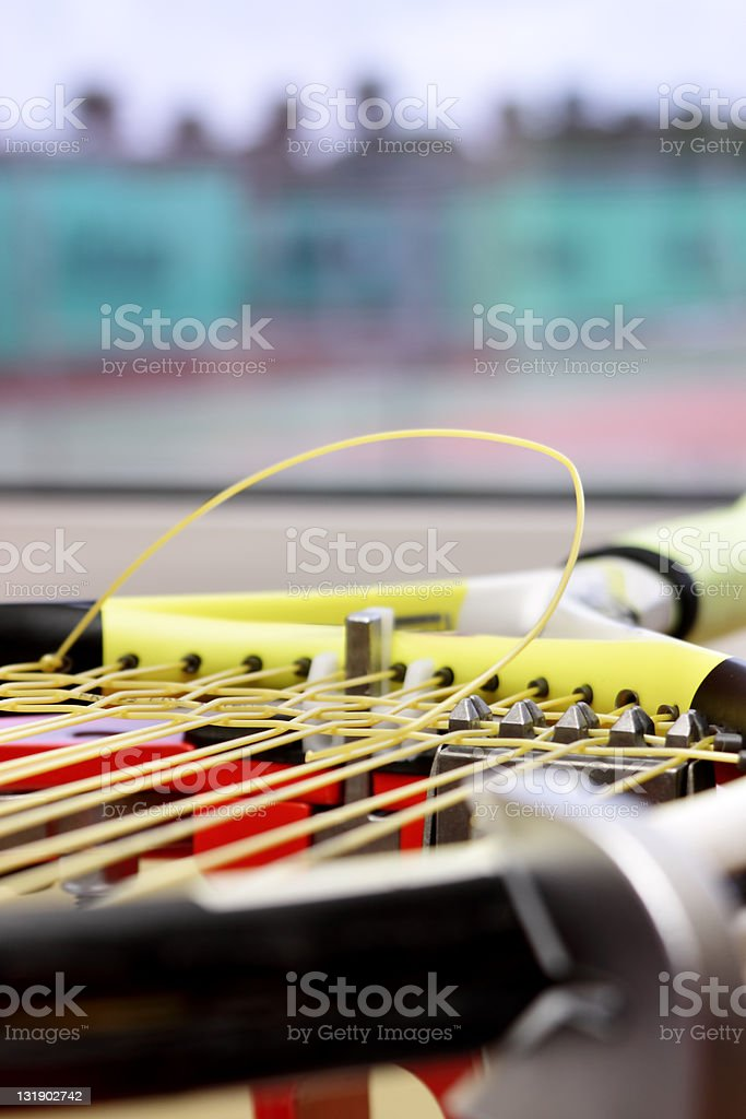 tennis restring royalty-free stock photo