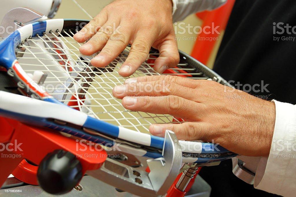 tennis restring stock photo