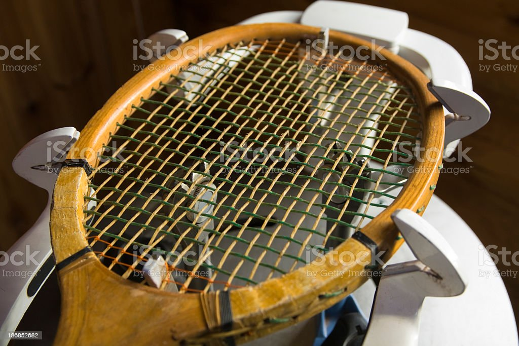 tennis restring royalty-free stock photo
