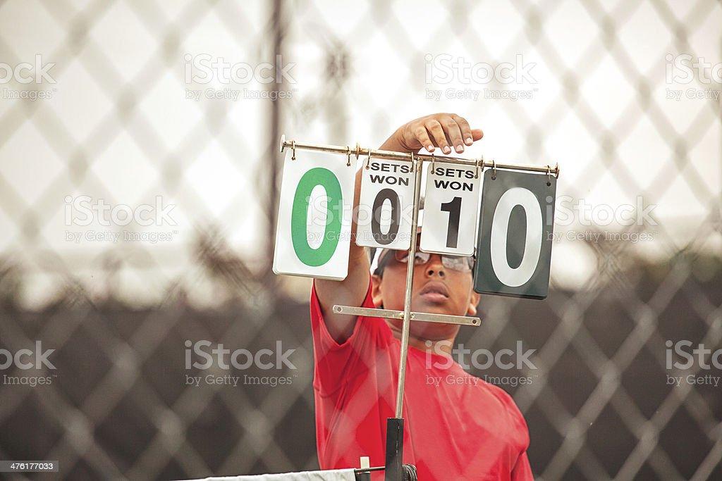 tennis score royalty-free stock photo