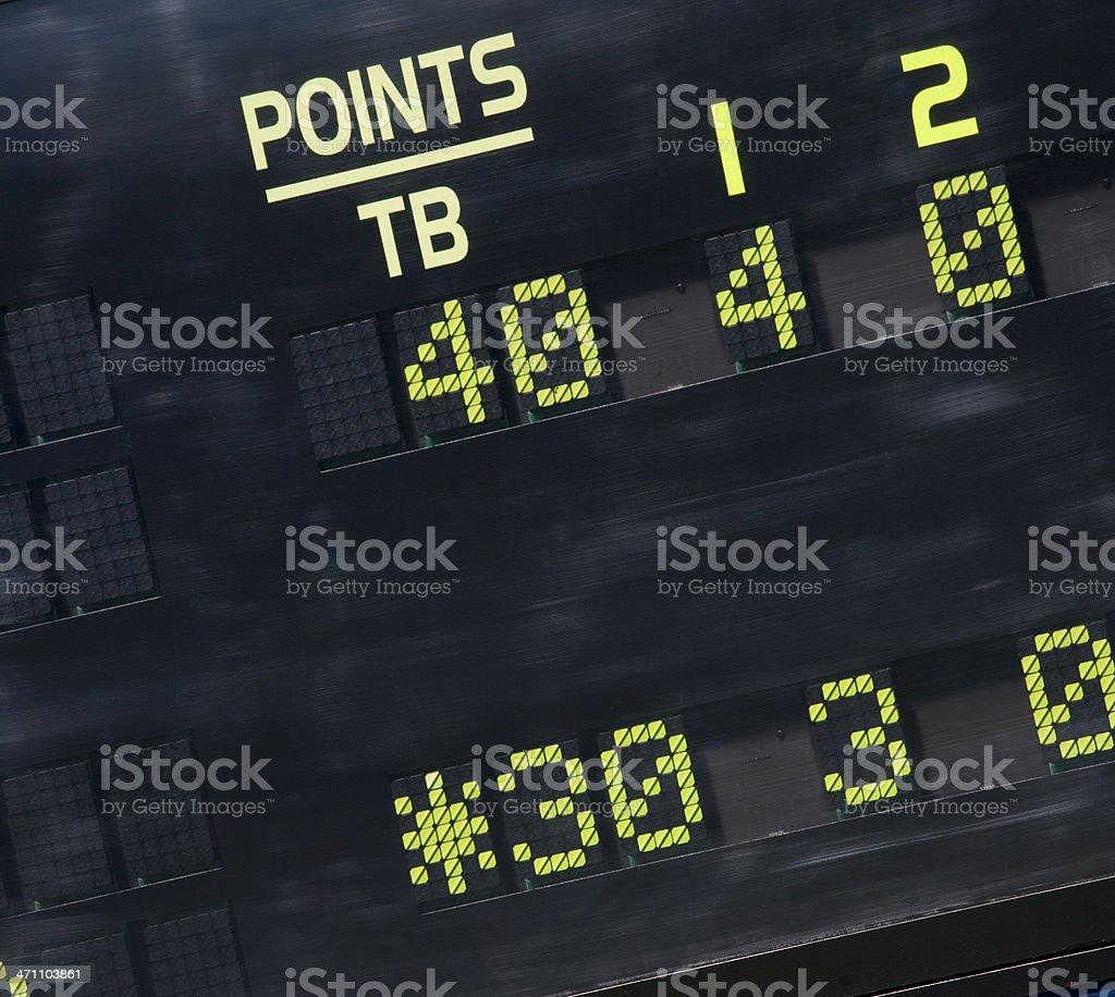Tennis scoreboard 30-40 Breakpoint stock photo