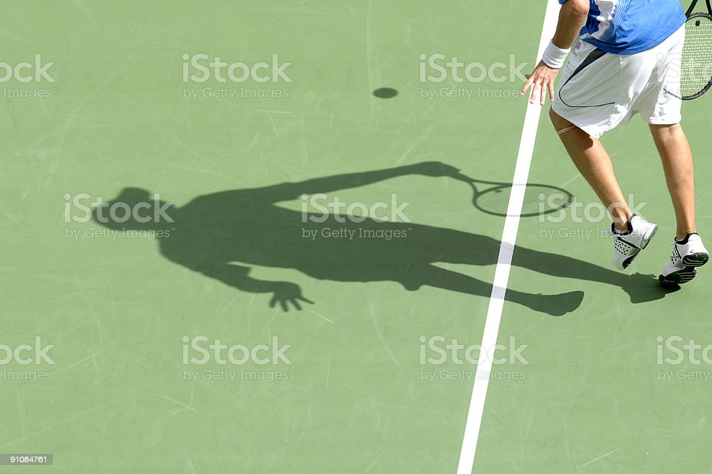 tennis shadow 02 royalty-free stock photo