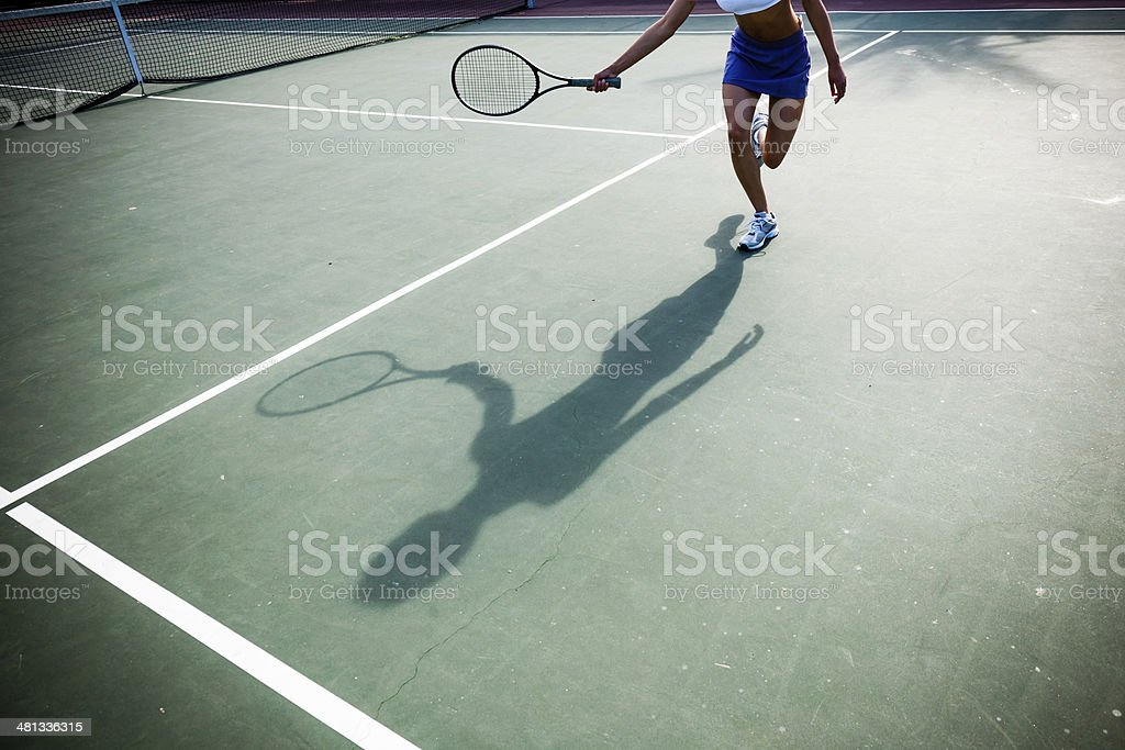Tennis Shadow stock photo