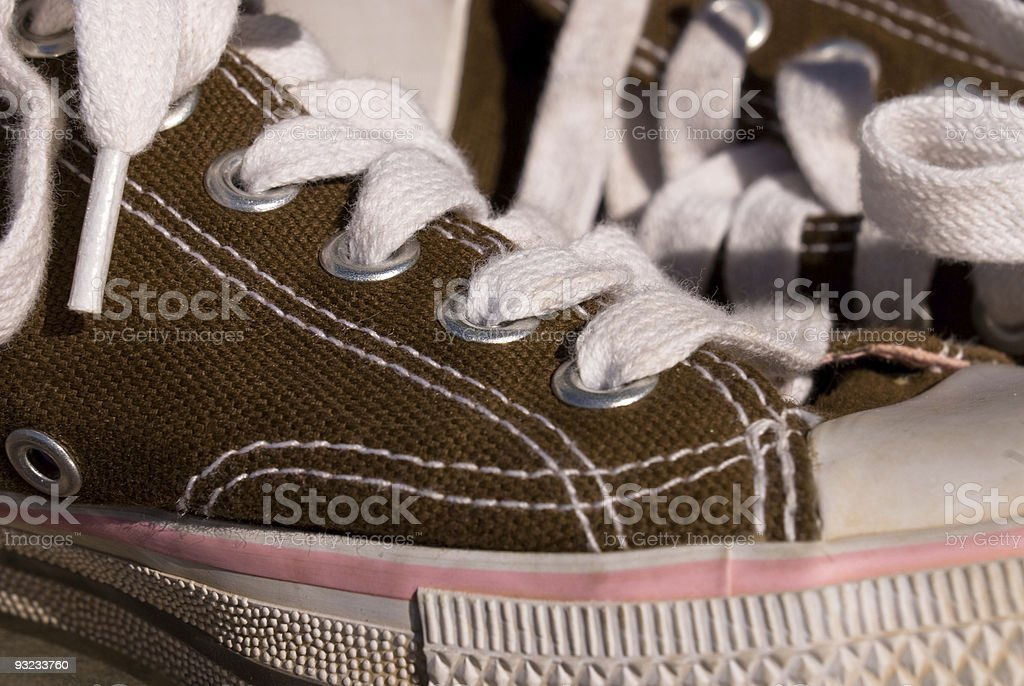 Tennis shoes stock photo