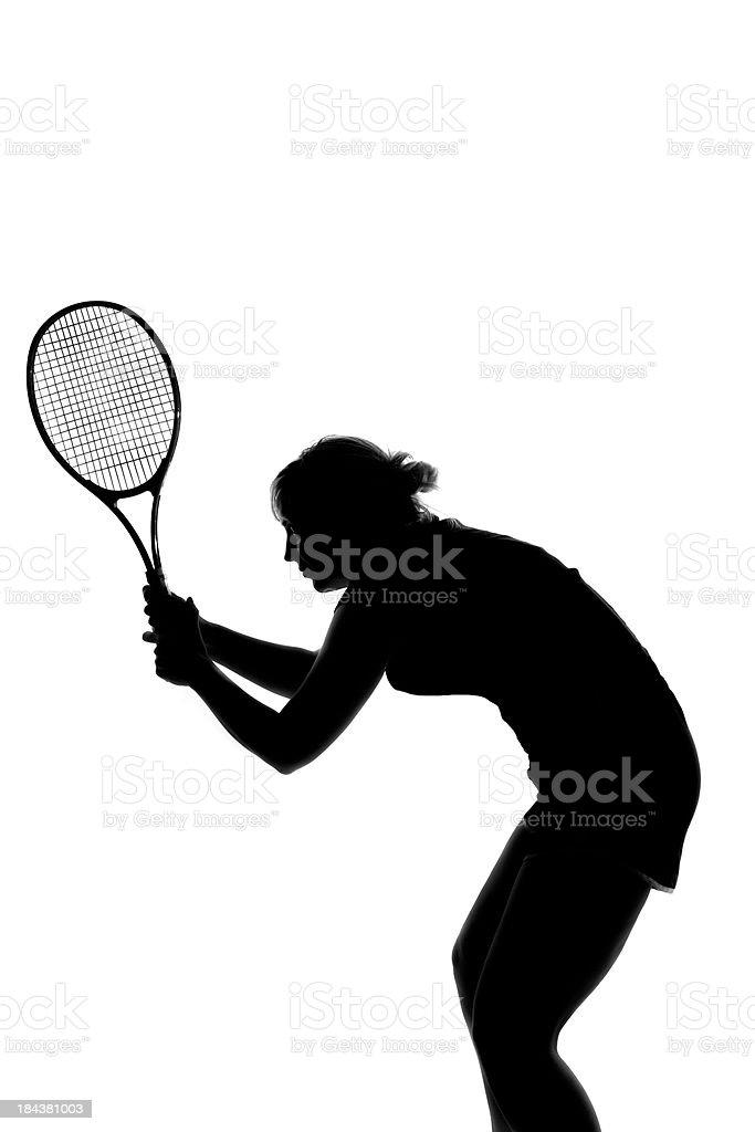 Tennis silhouette royalty-free stock photo