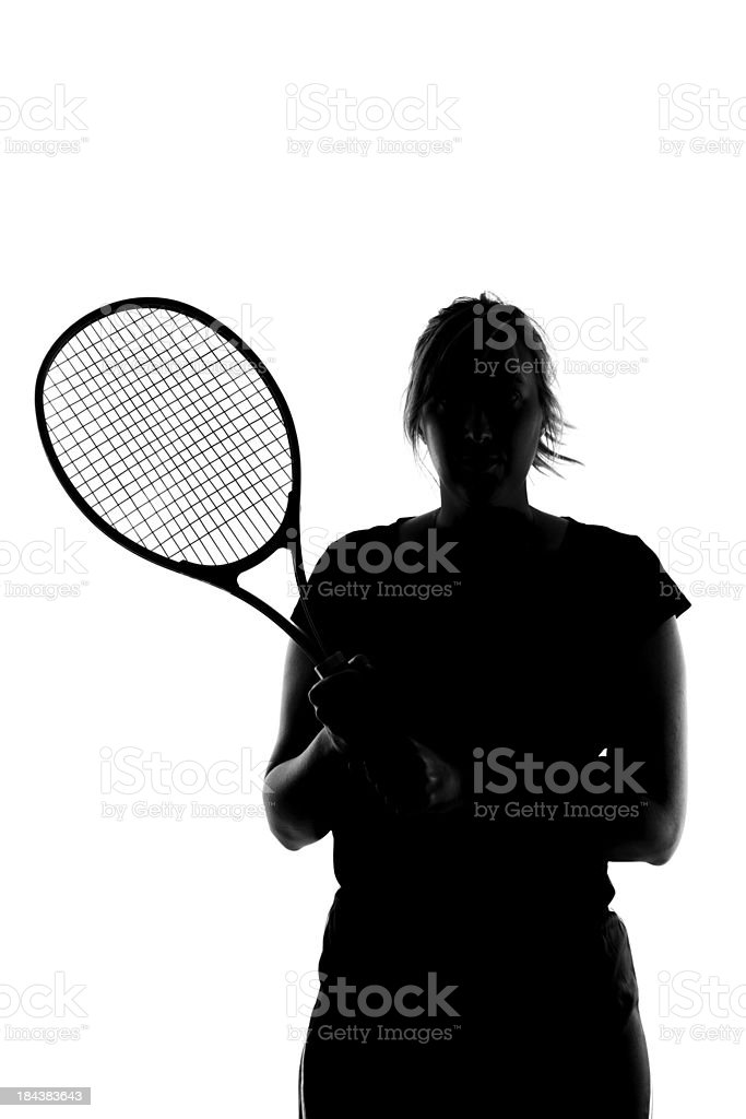 Tennis silhouette stock photo