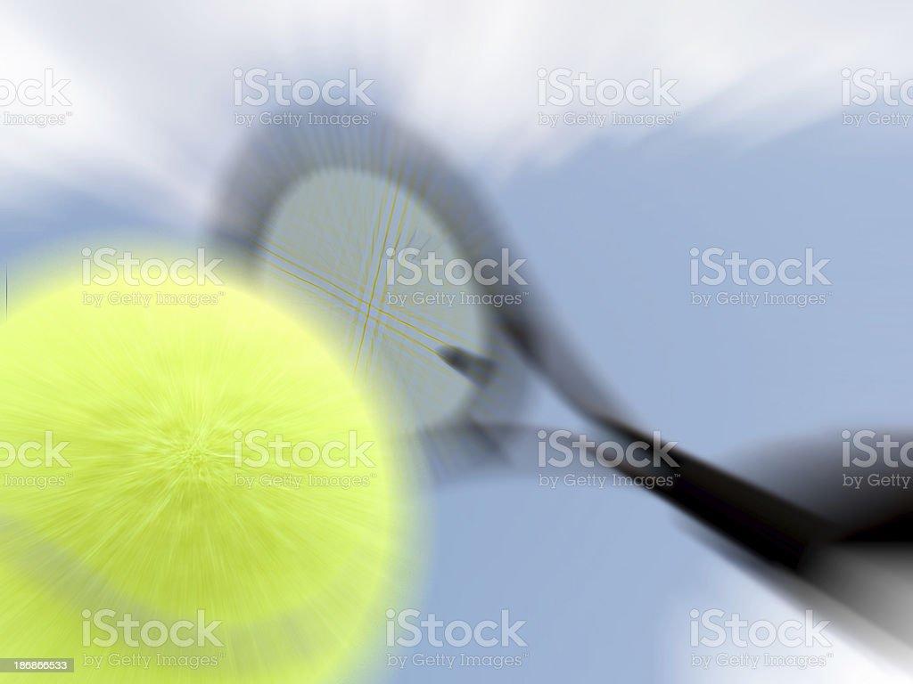 tennis smash royalty-free stock photo