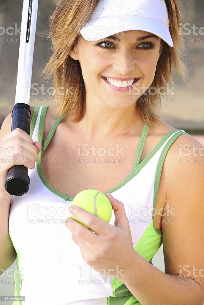 Tennis Smile with Ball stock photo