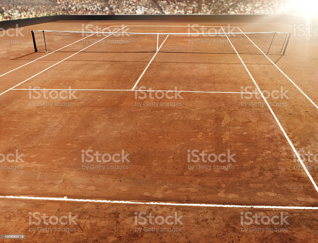 Tennis stadium background stock photo