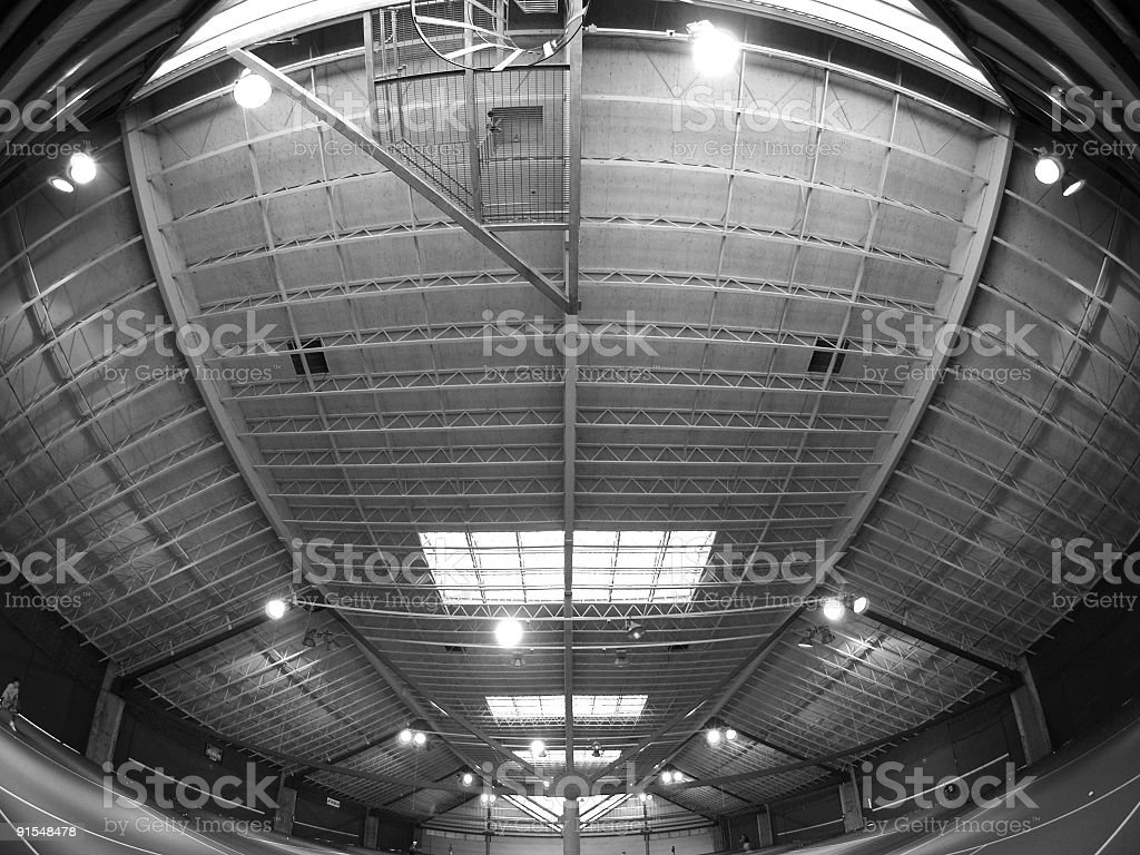 Tennis Structure B/W royalty-free stock photo