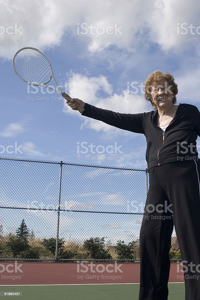 Tennis Swing royalty-free stock photo