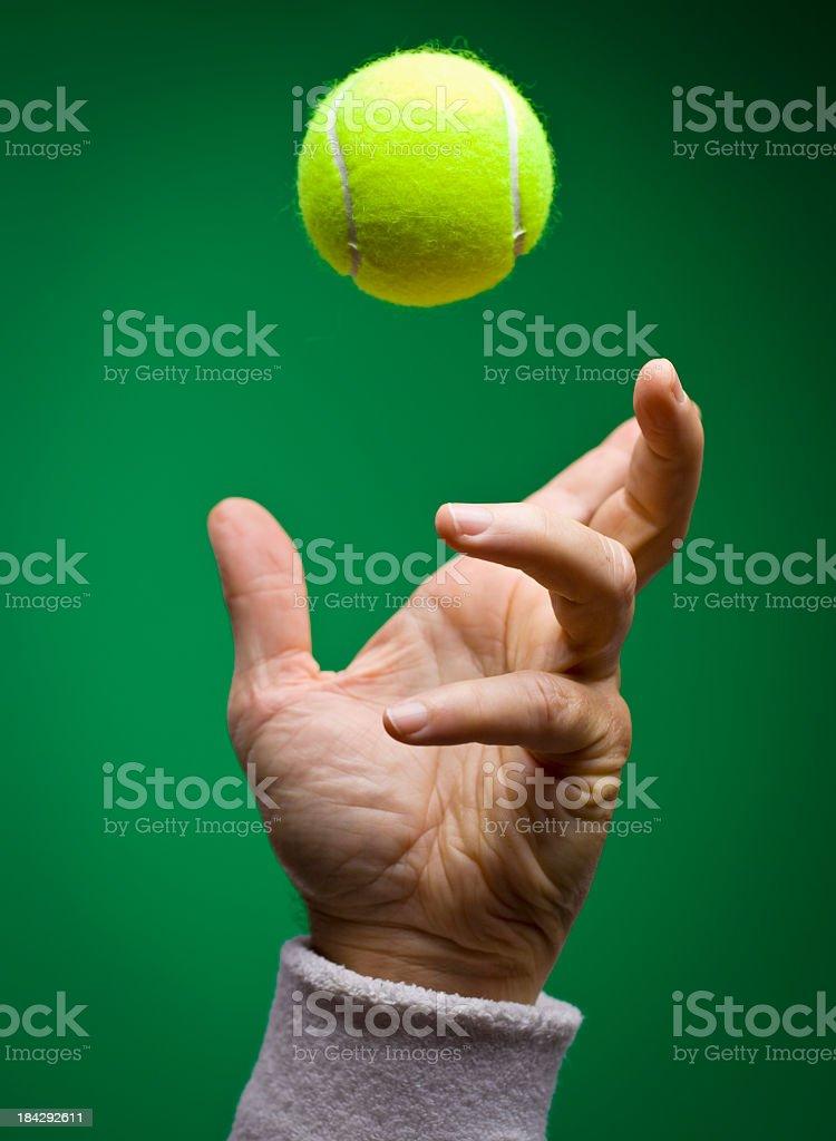 Tennis Toss for Serve stock photo