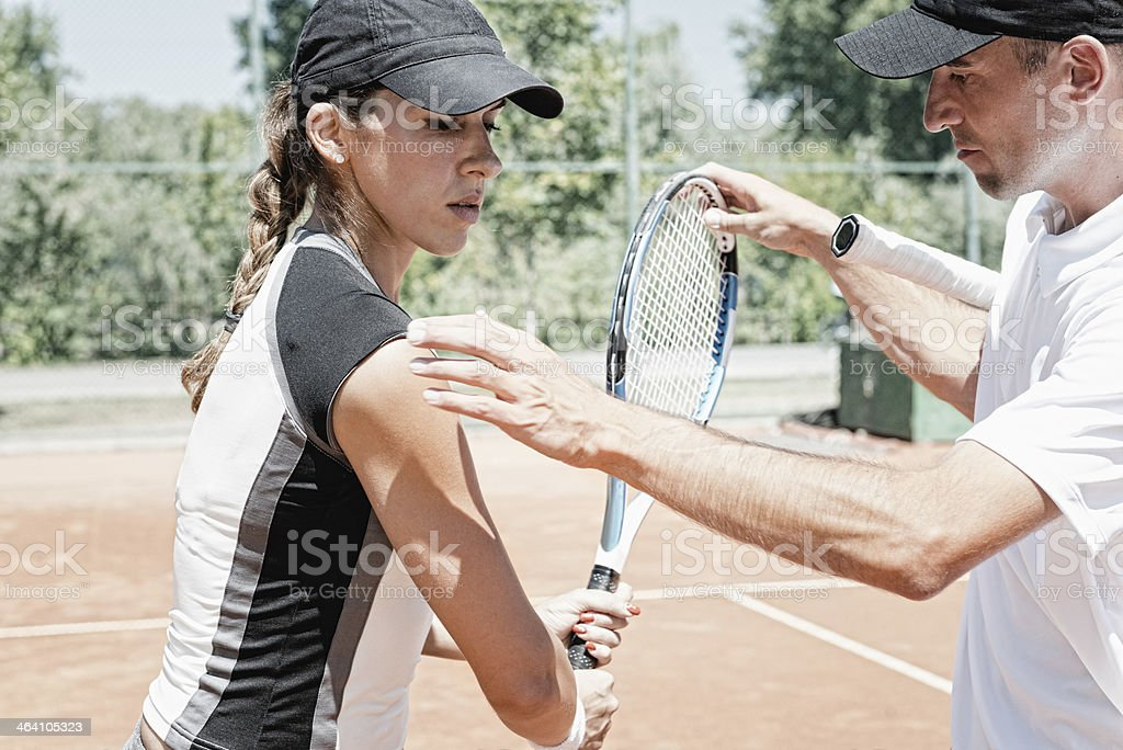Tennis training royalty-free stock photo