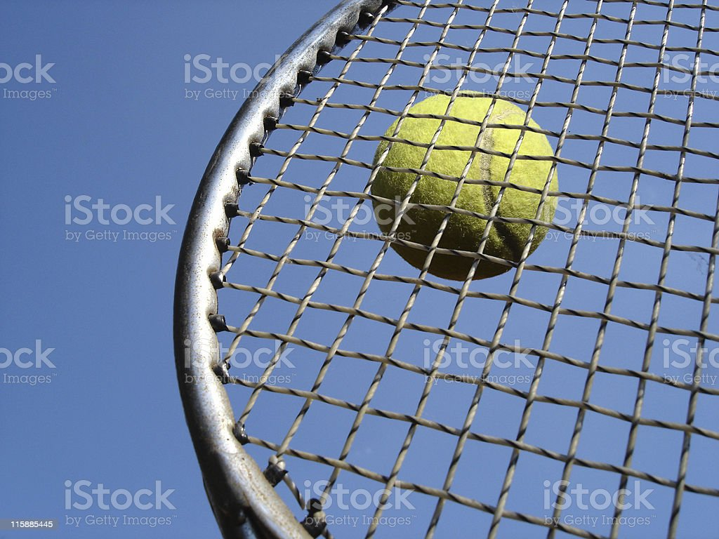 Tennis Up Close royalty-free stock photo
