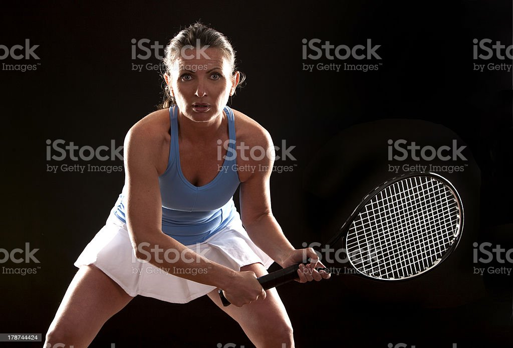 tennis woman stock photo