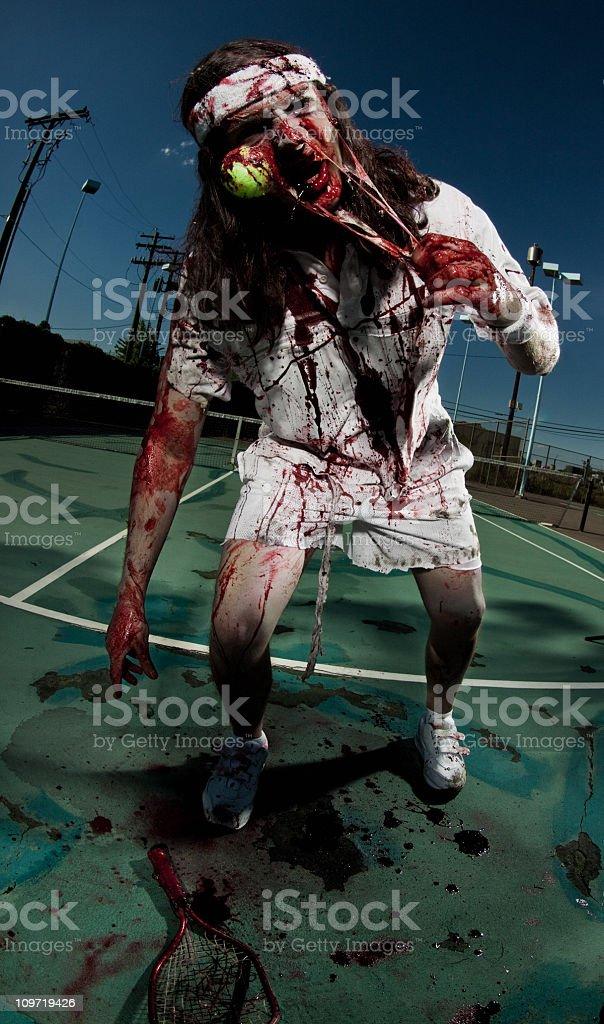 tennis zombie stock photo