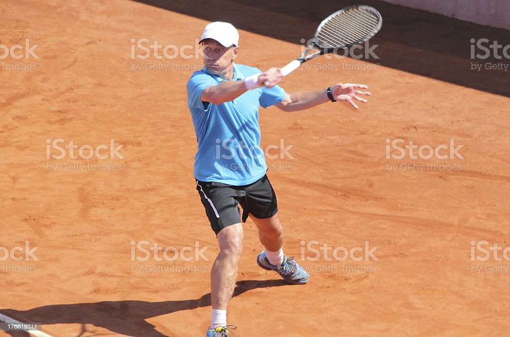 tennisplayer on the court royalty-free stock photo