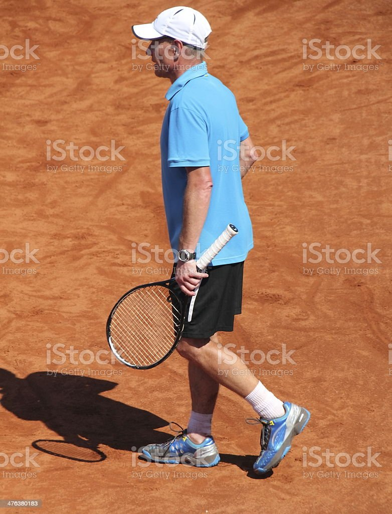 tennisplayer on the court royalty-free stock photo
