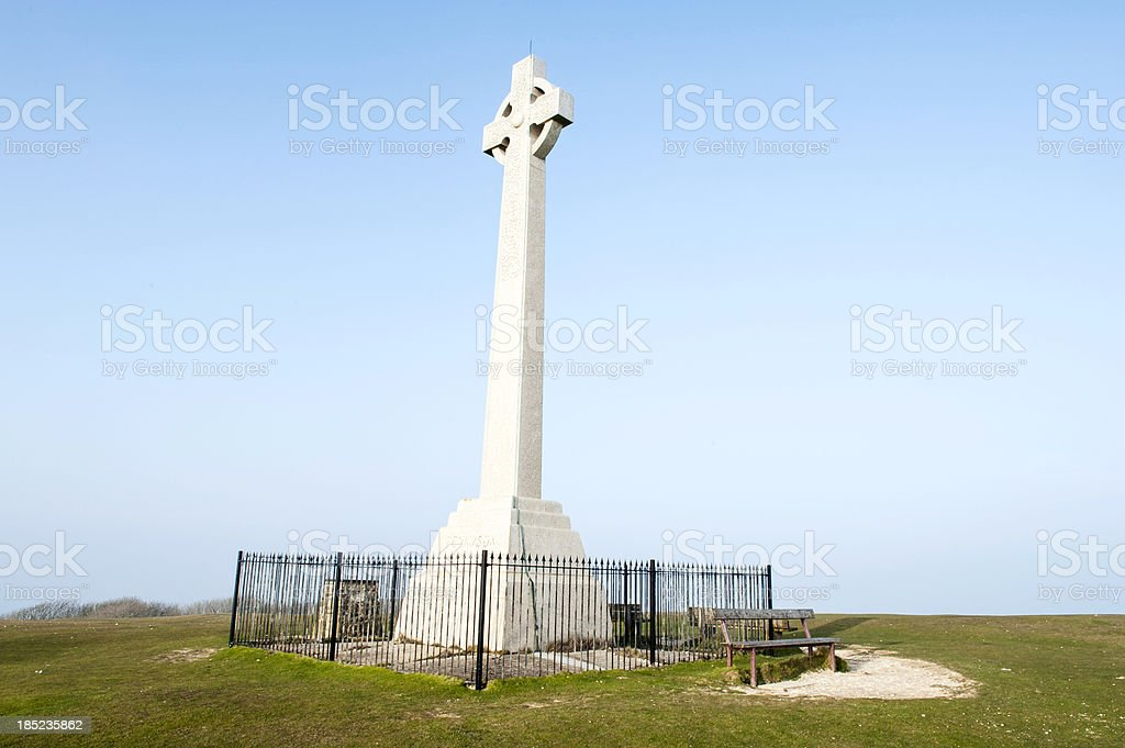 Tennyson's Monument on Isle of Wight, England royalty-free stock photo