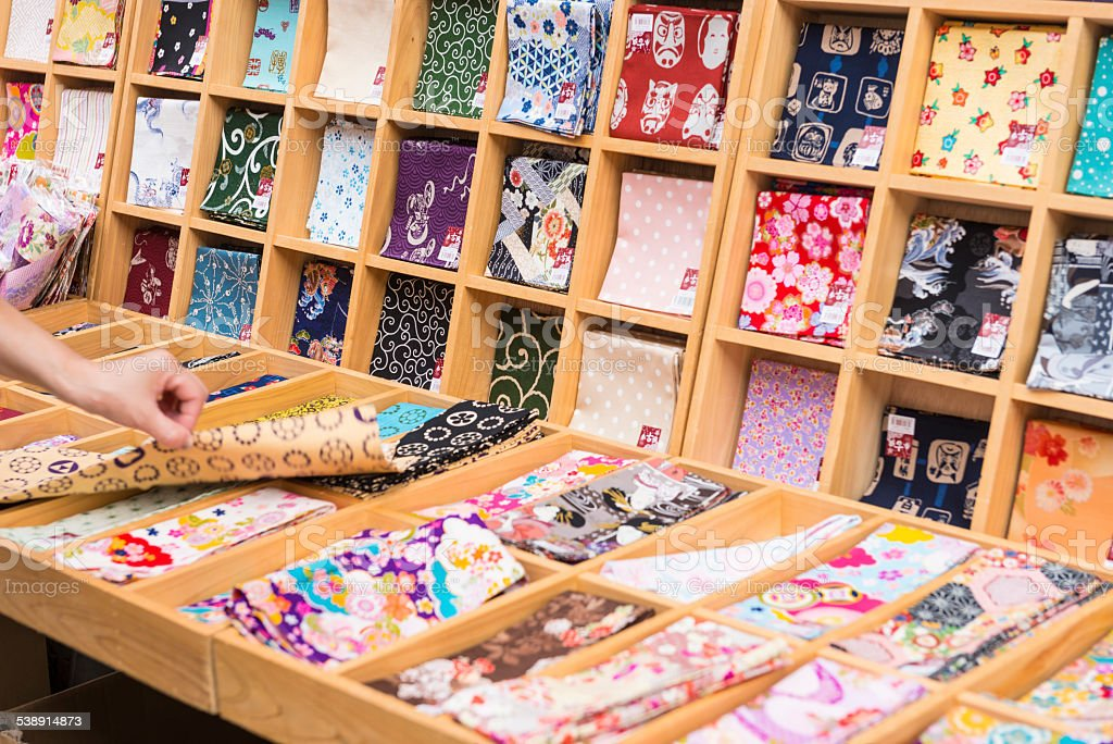 Tenogui multipurpose cloth stock photo