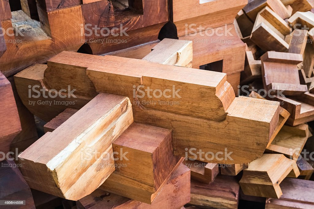 tenon joint structure stock photo