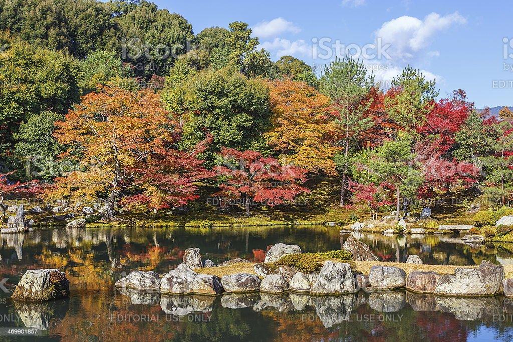Tenryuji Sogenchi Pond Garden in Kyoto stock photo