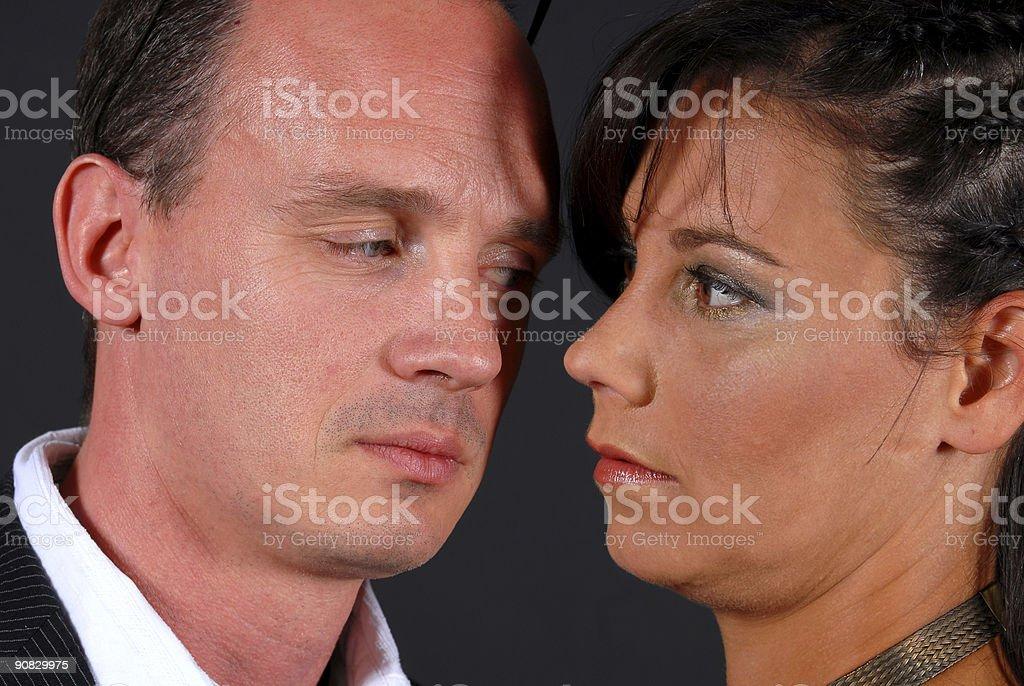 Tense Couple stock photo