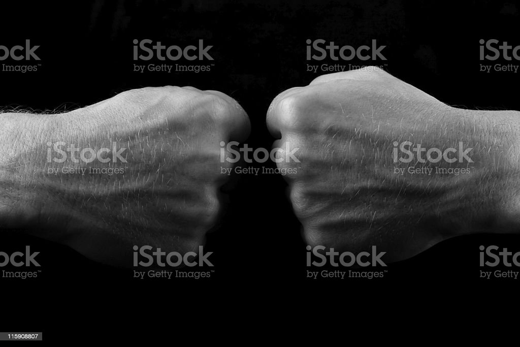 Tense royalty-free stock photo