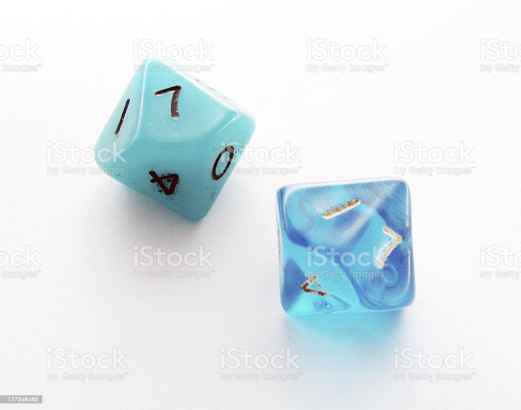 Ten-sided dice royalty-free stock photo